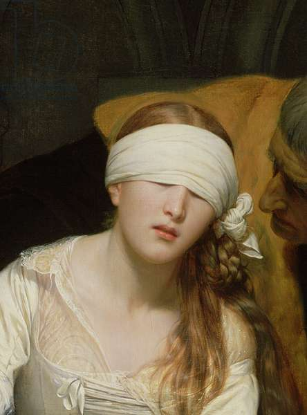 The Execution of Lady Jane Grey, 1833 (oil on canvas) (detail of 72630)