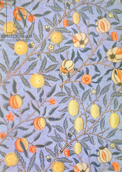 'Blue Fruit' or 'Pomegranate' wallpaper design, 1866