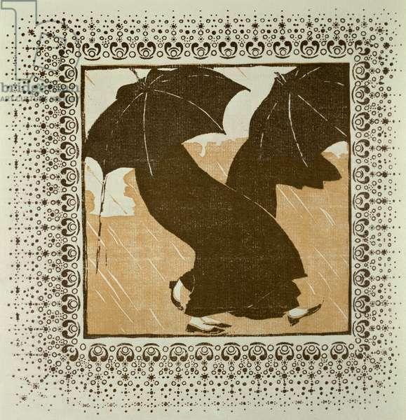 April (woodcut)