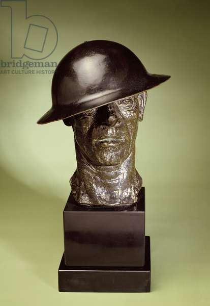 The Tin Hat, 1916 (bronze)