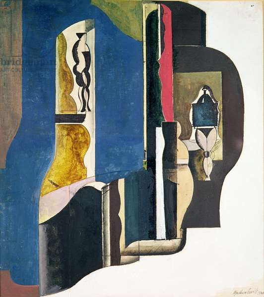 Abstract Composition, 1921 (w/c & gouache on paper)