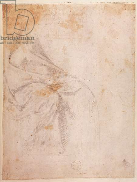Study of Drapery (black chalk on paper) c.1516 (verso) (for recto see 191775)