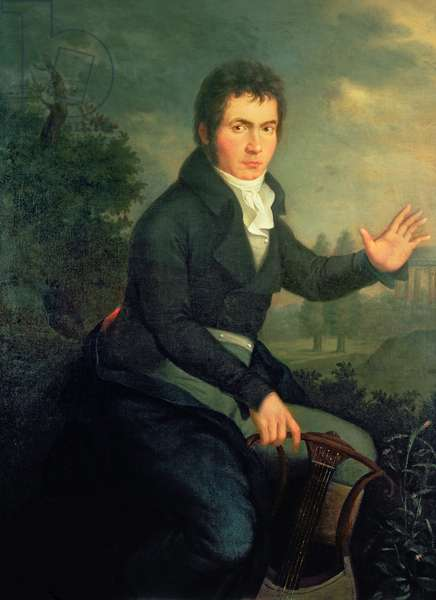 Ludvig van Beethoven (1770-1827), 1804 (oil on canvas) (for detail see 67289)