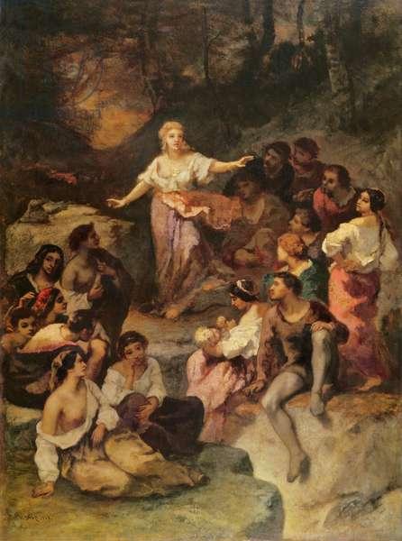 Gypsy Encampment, 1848 (oil on canvas)