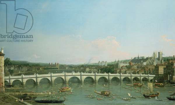 Westminster Bridge from the North with Lambeth Palace in distance