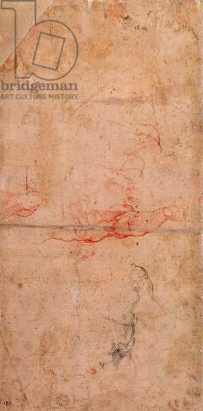 Preparatory Study for the Punishment of Haman (red chalk & charcoal on paper) (verso)