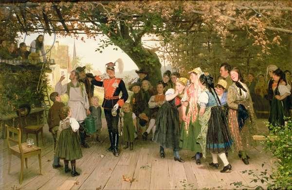 On Leave, 1883 (oil on canvas)