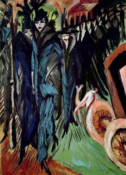 Friedrichstrasse, 1914 (oil on canvas)