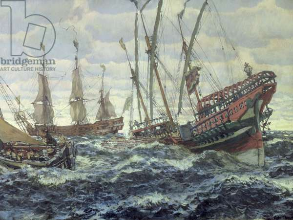 Ships in the Time of Peter I, 1911