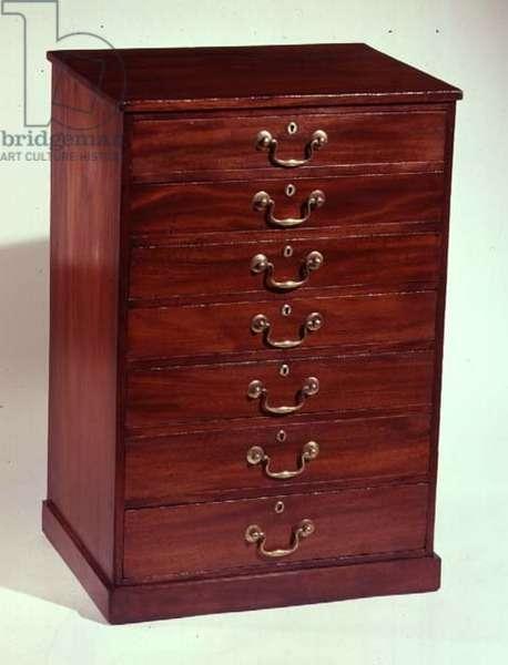Seven-drawer chest, mahogany, c.1840