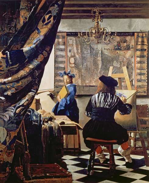 Vermeer, Portrait of the artist in his studio, 1968
