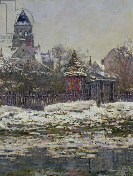 The Church at Vetheuil, 1879 (oil on canvas)