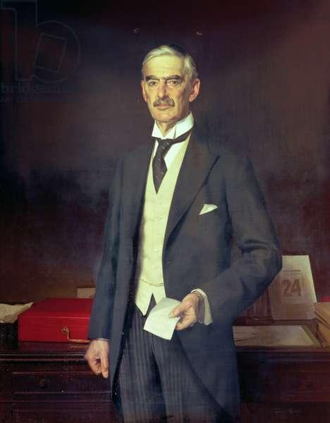 Portrait of Neville Chamberlain (1869-1940)
