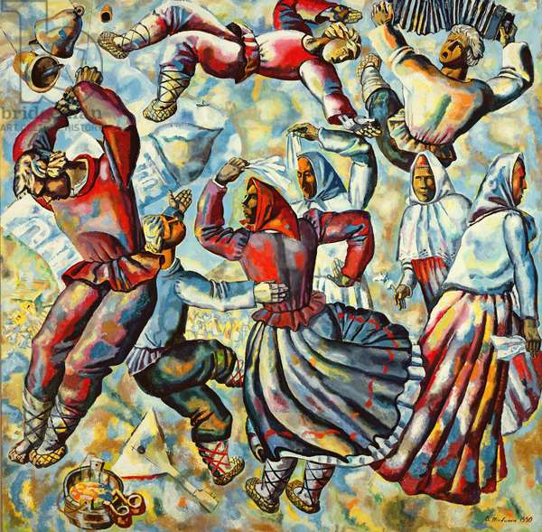 Russian Festival, 1990 (oil on canvas)