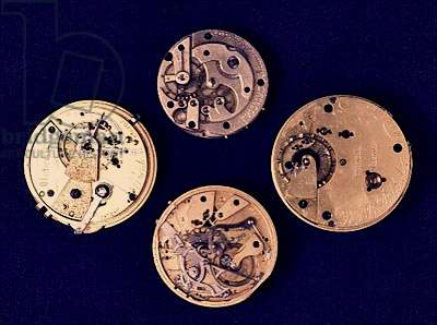 Collection of Victorian watch movements, late 19th century