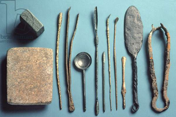 Surgical instruments, various dates within Roman period
