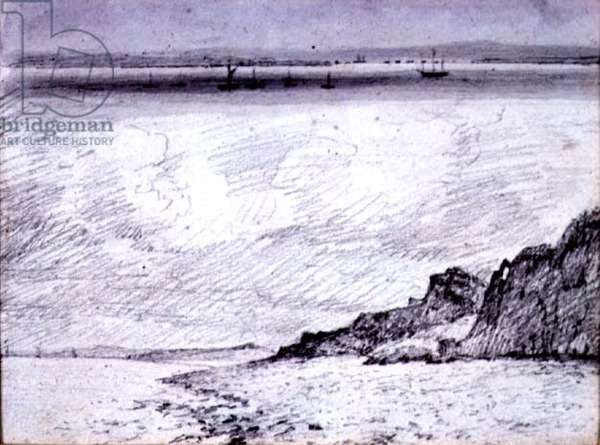 Sheerness; Coast scene near Southend, 1814 (drawing)