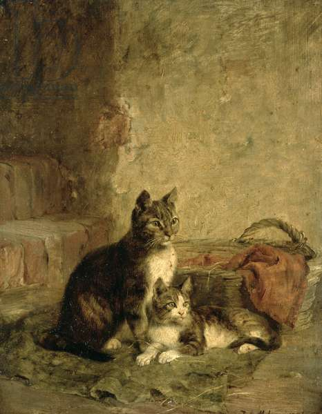 Cats, 1883 (oil on canvas)