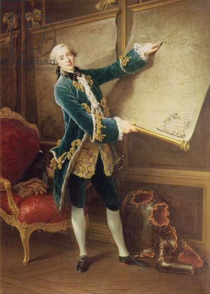 The Comte de Vaudreuil, 1758 (oil on canvas)