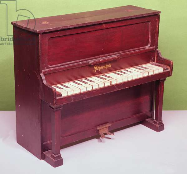 Toy piano by Schoenhut and Co, American, 19th century