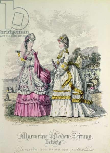 German Fashions from Leipzig published in 'Moniteur de la Mode'