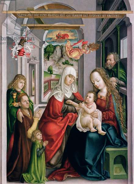 St. Anne with the Virgin and Child, Eperjes, c.1520 (tempera on pine-wood)