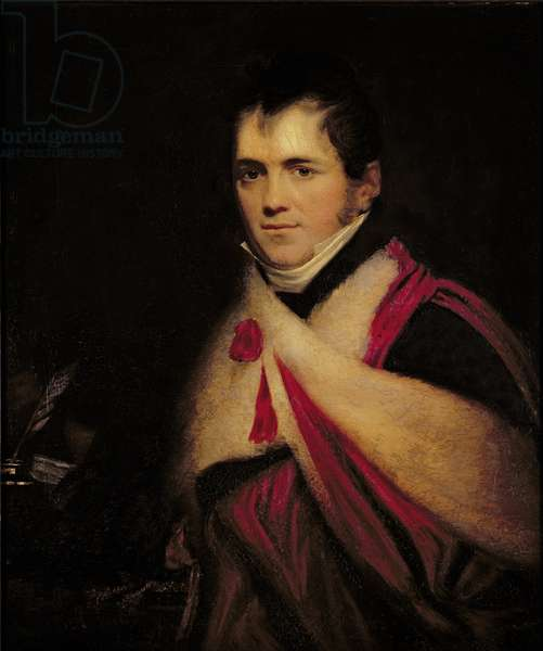 Portrait of Rev. Edward Daniel Clarke (1769-1822) c.1822 (oil on canvas)