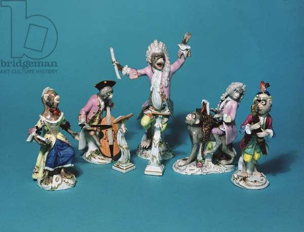Meissen monkey band, c.1750 (porcelain)