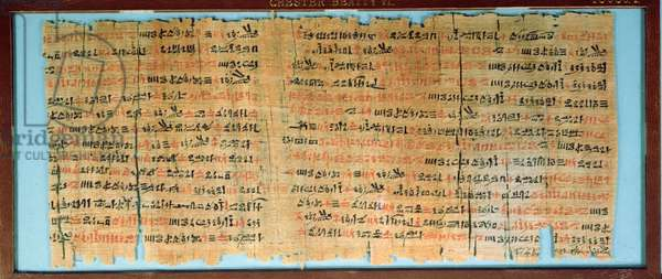 The Chester Beatty Medical Papyrus, New Kingdom, c.1200BC (papyrus)