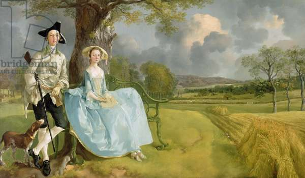Mr and Mrs Andrews, c.1748-9 (oil on canvas)
