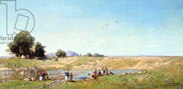 The Durance Valley, 1867 (oil on panel)