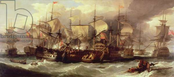 Battle of Cape St.Vincent, 14 February 1797, c.1850 (oil on canvas)