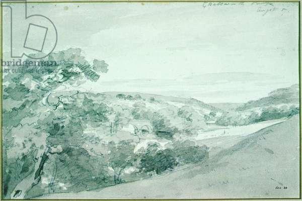 Chatsworth Park, 1801 (pencil & sepia wash)
