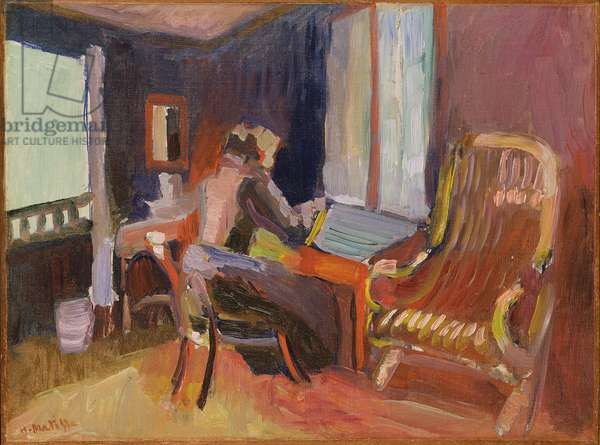 Woman in an interior, 1901-2 (oil on cardboard)