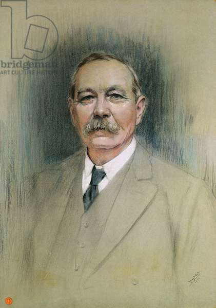 Portrait of Sir Arthur Conan Doyle (pastel on paper)