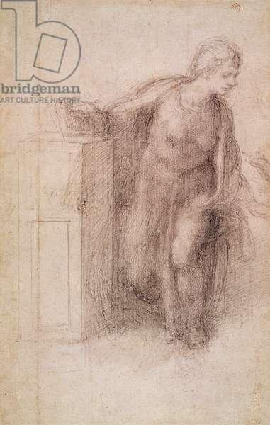 The Virgin Annunciate, c.1546 (black chalk on paper)