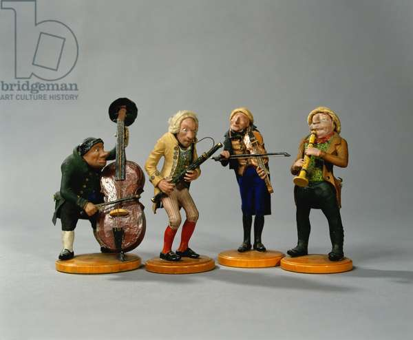Caricature figurines of musicians, made in Nuremberg, 1836 (ceramic) (for detail see 78086)