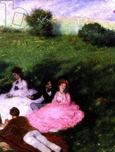 Picnic in May (detail), 1873 (oil on canvas)