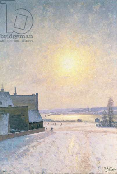 Sun and Snow, Scene from Stockholm