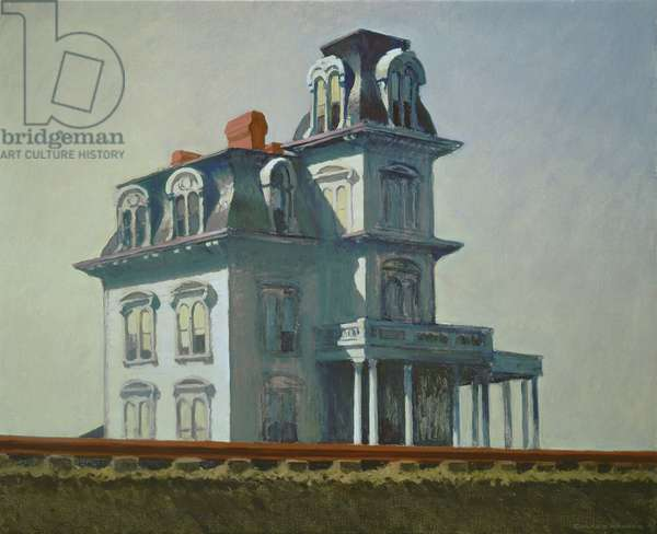 The House by the Railroad, 1925 (oil on canvas)