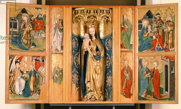 The Altarpiece of the Virgin Mary from Szepeshely, c.1480 (tempera on panel)