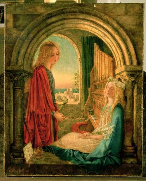 Annunciation, 1859 (oil on canvas)