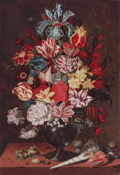 Still life with Flowers, 1634 (oil on panel)