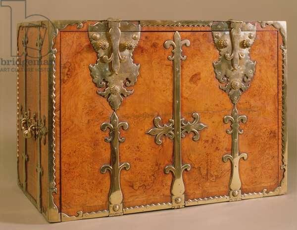 Travelling secretaire with gilt bronze mounts, c.1700 (walnut)
