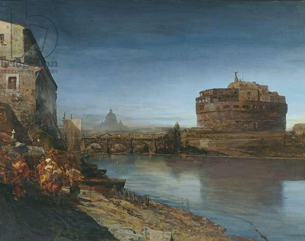 Castel Sant' Angelo at Dusk, 1882 (oil on canvas)