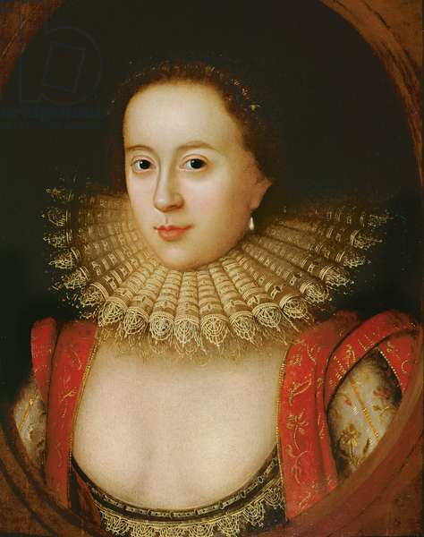 Portrait of Frances Howard (1590-1632) Countess of Somerset, c.1615 (oil on panel)