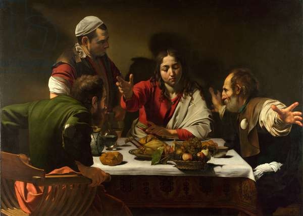 The Supper at Emmaus, 1601 (oil and tempera on canvas)