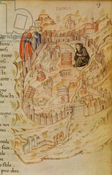 8.1.F.18.`Roma La Veuve', showing the Widow of Rome, Italian, 13th century