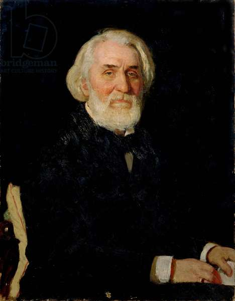 Portrait of Ivan S. Turgenev (1818-83), 1879 (oil on canvas)