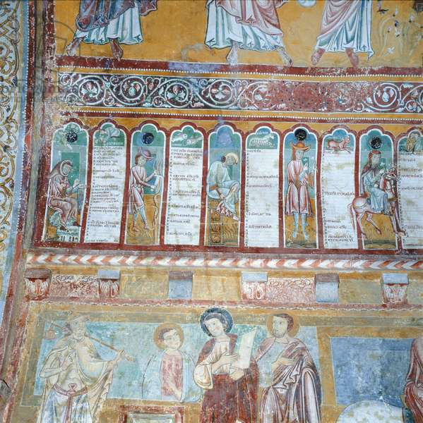 The Calendar of the Diocese of Valva, 13th century (mural)
